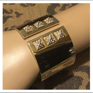 VICTORIA'S SECRET Gold CZ Cuff Bracelet